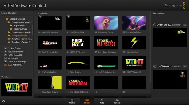 Rückseite des Blackmagic Design ATEM Television Studio HD