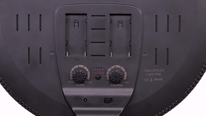 Batteriefächer auf der Rückseite des magic450LED